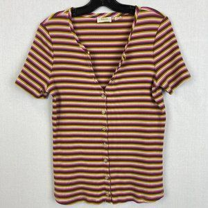 ANTHROPOLOGIE MAEVE Colorful Stripe Top